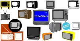 Free vector television set