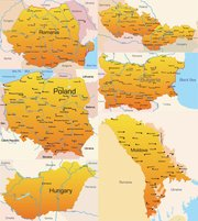 Eastern Europe Geographic Map