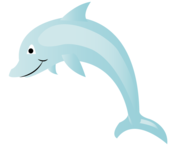 Free Dolphin Cartoon Vector Art
