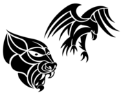 Free Tribal Animals Vector Clip Art Images