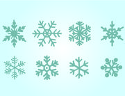 Blue Hand Drawn Snowflake Pack