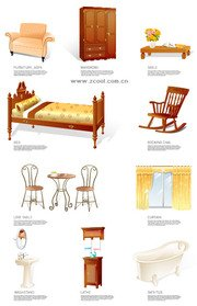 Furniture, household goods icon