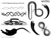 Line Art Vector Design Elements Set-3