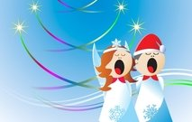 Christmas Angels Free Vector Design Angles Angel Christmas