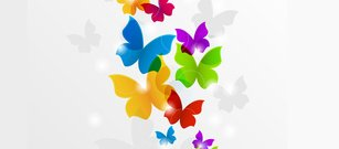 Colorful Butterflies Abstract