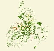 Abstract Green Floral