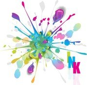 Splashes Of Colorful Ink Vector Art