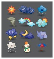 cartoon weather icon 4