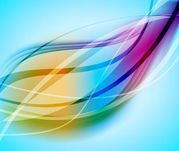 Creative Abstract Background with Colorful Curves