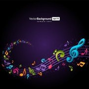 Theme Music Notes Vector 4
