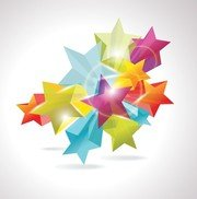Brilliant Dynamic Fivepointed Star 02