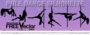 Vecteur Pole Dance Silhouette