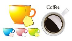 Cup and coffee cup
