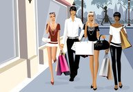 Vector material for men and women fashion shopping