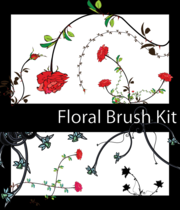 Gratis bloemen Illustrator Brush Pack
