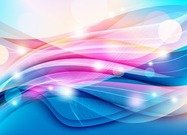 Colorful Wave on Light Background