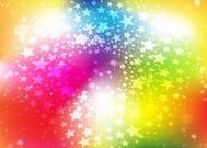 Bright Rainbow Stars Background