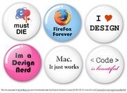 Humorous Vector Badges - for Designers