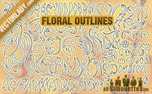 118 Free Vector Floral Outlines