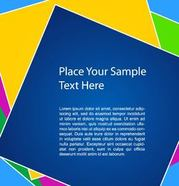 Colorful Square Background Template