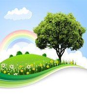 The natural landscape cartoon background