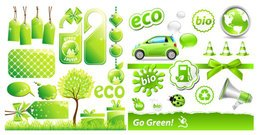 Low-carbon green theme icon