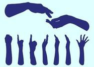 Hands Silhouettes Graphics