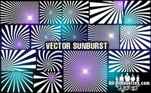 22 vecteur sunburst clipart