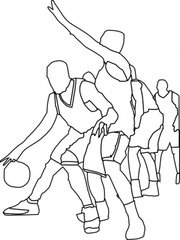 Basket-ball jeu contour