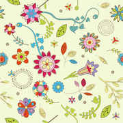 Free Abstract Flower Pattern Background