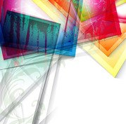Fluorescent Colorful Glass Sheets Abstract Background