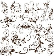Swirl Floral decoratief Element