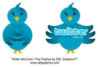 Vector Twitter vogel Icon