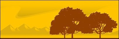 Vector material evening trees