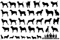 Vector Dogs Silhouettes Free Pack