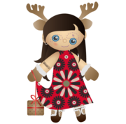 Miss Santa Claus - Christmas Vector Freebie