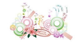Circular pattern with the elements of