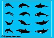 Dauphins Silhouettes graphiques