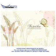 VINTAGE FLORAL VECTOR WITH BUTTERFLY.eps