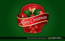 Merry Christmas Label Free