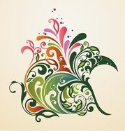 Abstract ontwerp Floral Ornament achtergrond