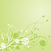 Green Swirling Creeper Leafy Background