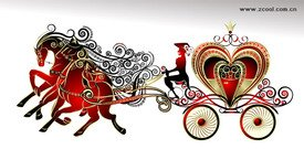 Gorgeous heart-shaped carriage
