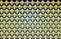 Pattern with Floral Ornament Shape