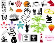 Design elements vector collection of material