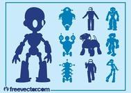 Roboter-Graphics-Set