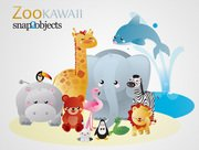 Kawaii Zoo Vector Animals (Free)