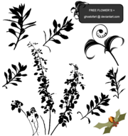 Flower Plant Silhouettes Free