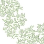 Abstract Floral with Green Pencil