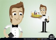 Waiter Cartoon Character